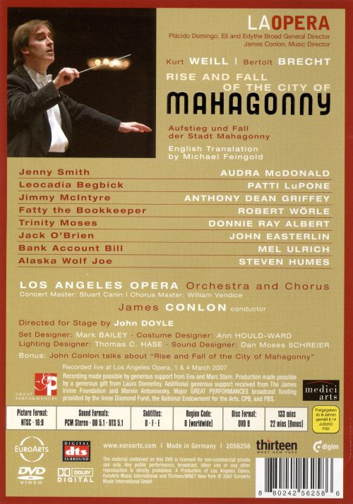 Weill: Rise and Fall of the City of Mahagonny [DVD Video]