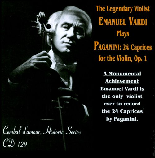 paganini 24 caprices for the violin op 1 emanuel vardi songs reviews credits allmusic. Black Bedroom Furniture Sets. Home Design Ideas