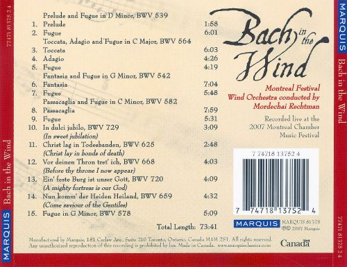 Bach in the Wind