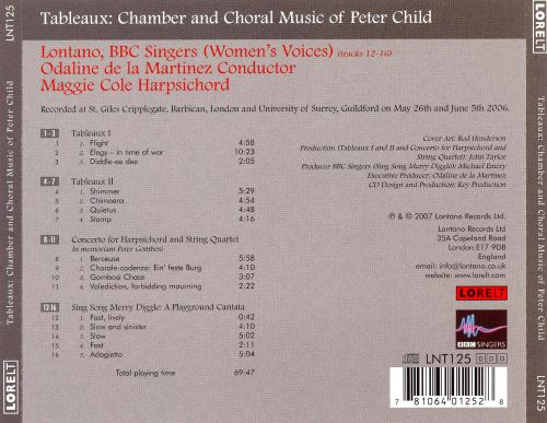 Tableaux: Chamber and Choral Music of Peter Child