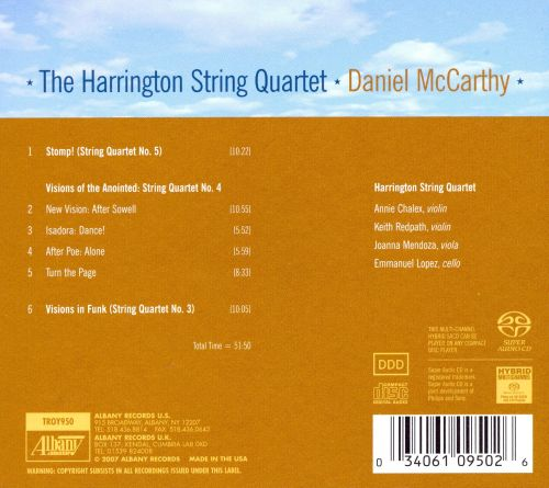 Daniel McCarthy: Visions in Funk; Visions of the Anointed; Stomp!