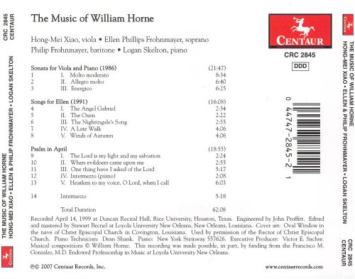 The Music of William Horne