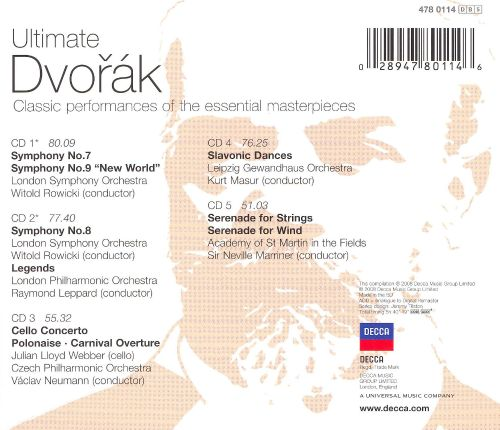 Ultimate Dvorák: The Essential Masterpieces [Box Set]