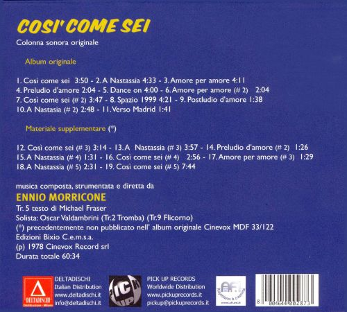 Cosi' Come Sei [Music from the Motion Picture]