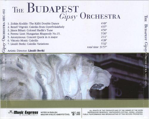 The Budapest Gipsy Orchestra