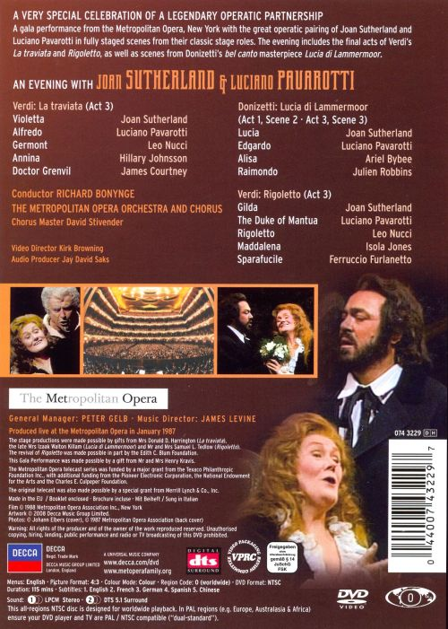 An Evening with Joan Sutherland and Luciano Pavarotti [DVD Video]