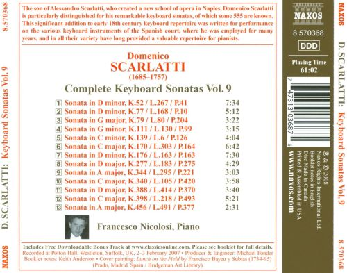 Domenico Scarlatti: Complete Keyboard Sonatas, Vol. 9