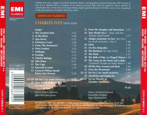 Charles Ives: Songs; Orchestral Sets; From the Steeples and Mountains