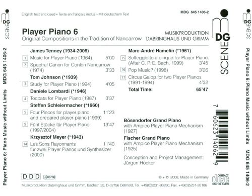Player Piano, Vol. 6: Original Compositions in the Tradition of Nancarrow