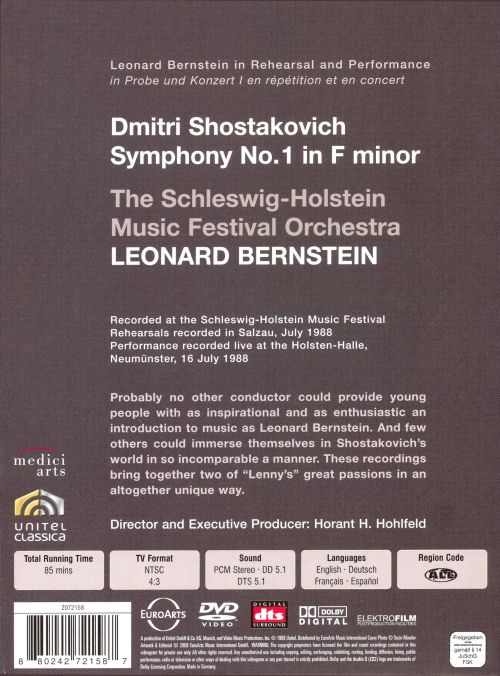 Bernstein in Rehearsal & Performance: Shostakovich Symphony No. 1 [DVD Video]