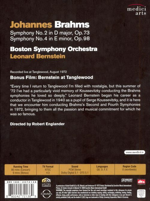 Brahms: Symphonies Nos. 2 & 4 [DVD Video]