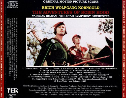 The Adventures of Robin Hood [Original Motion Picture Score]