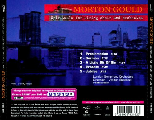 Morton Gould: Spirituals for String Choir and Orchestra