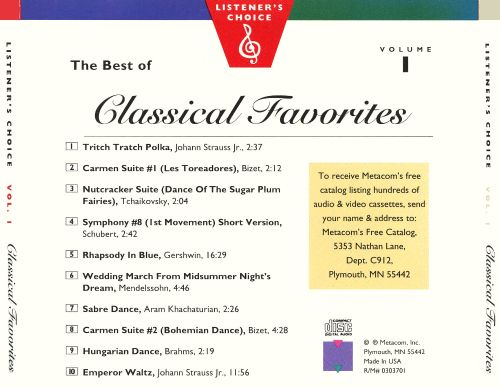 Listener's Choice, Vol. 1: The Best of Classical Favorites