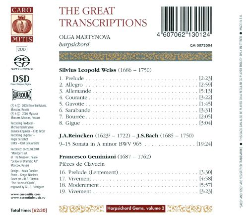The Great Transcriptions