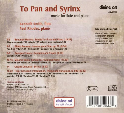 To Pan and Syrinx
