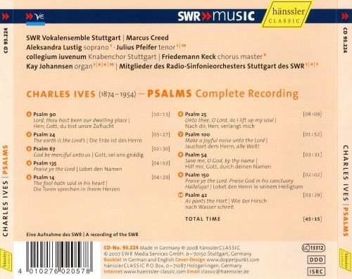 Charles Ives: Psalms (Complete Recording)