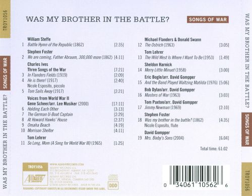 Was My Brother in the Battle? - Songs of War