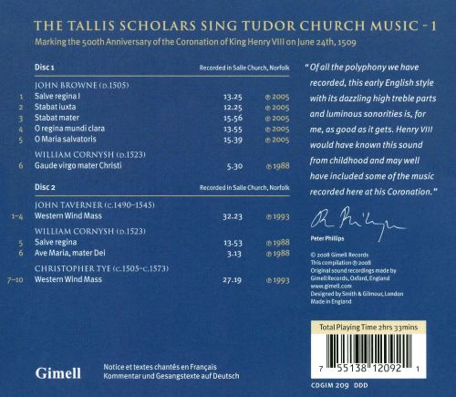 Tudor Church Music, Vol.1: Tallis Scholar