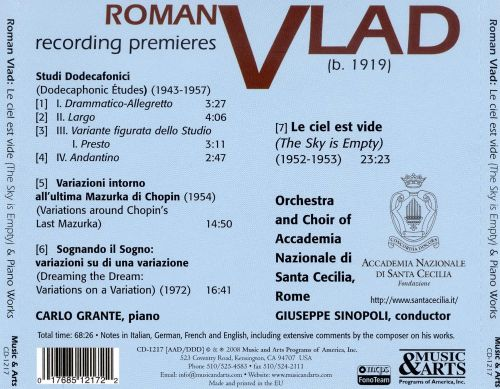 Roman Vlad: Major Works for Piano