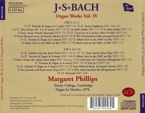 Bach: Organ Works, Vol. 4
