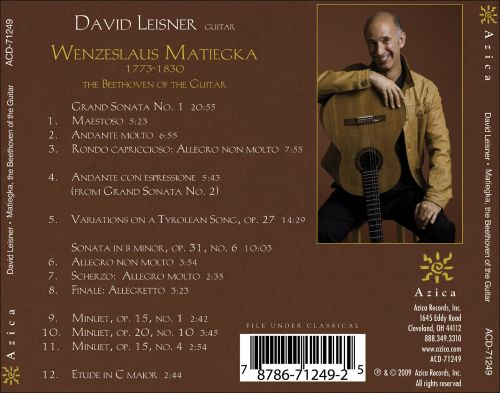 Wenzeslaus Matiegka: The Beethoven of the Guitar