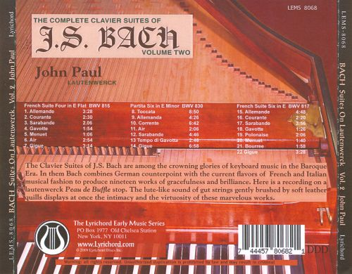 The Complete Clavier Suites of J.S. Bach, Vol. 2