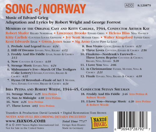 Grieg/Forrest/Wright: Song Of Norway