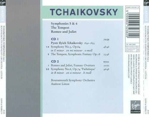 Tchaikovsky: Symphonies Nos. 5, 6; The Tempest; Romeo and Juliet