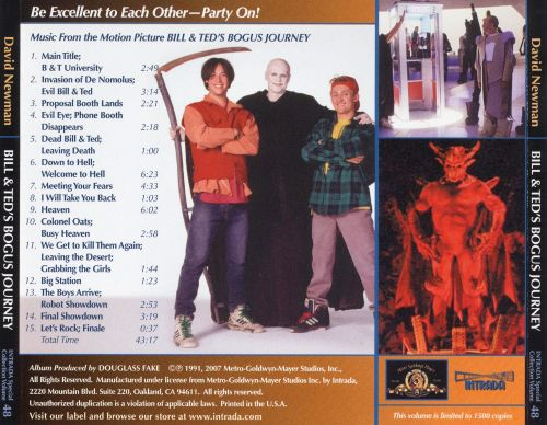 Bill & Ted's Bogus Journey: Music from the Motion Picture [Score]