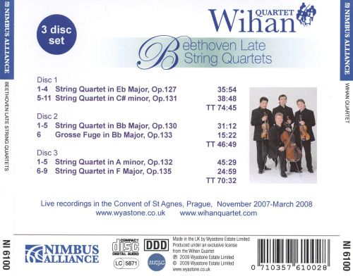 Beethoven: Late String Quartets