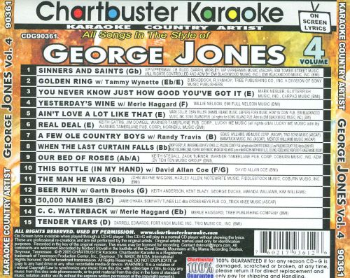 Karaoke: George Jones, Vol. 4