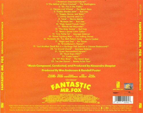 Fantastic Mr Fox Original Soundtrack Original