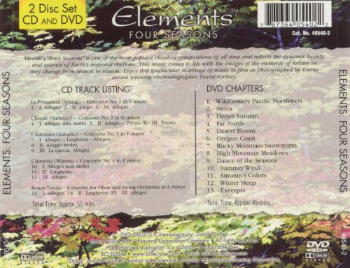 Elements: Four Seasons [CD/DVD]