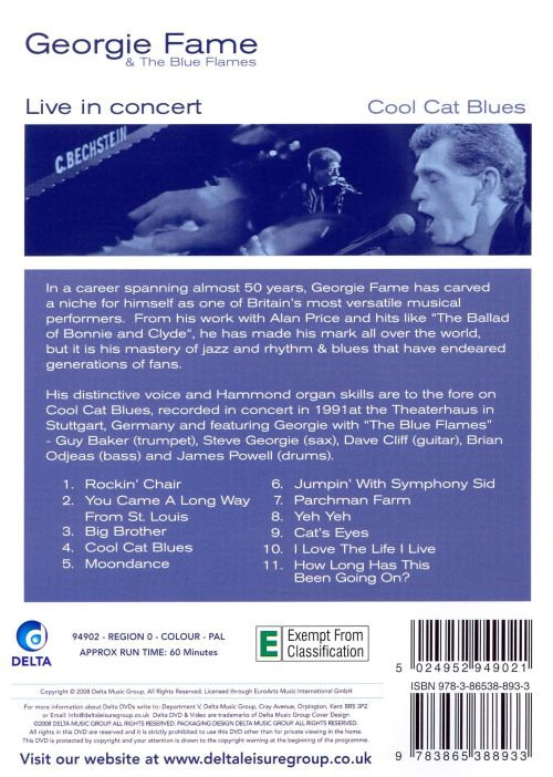 Cool Cat Blues Live in Concert [DVD]