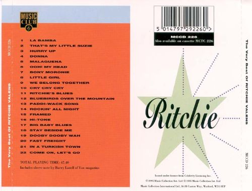The Very Best of Ritchie Valens [Music Club]