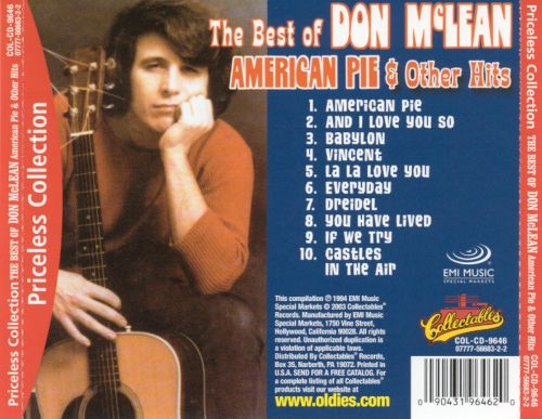 The Best of Don McLean: American Pie & Other Hits