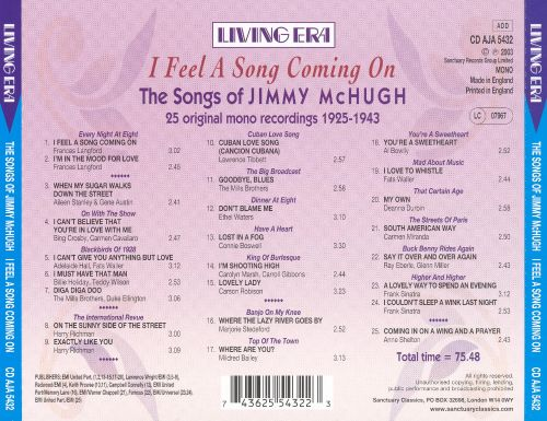 I Feel a Song Coming On: The Songs of Jimmy McHugh