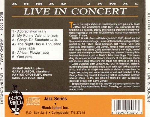Live in Concert Featuring Gary Burton