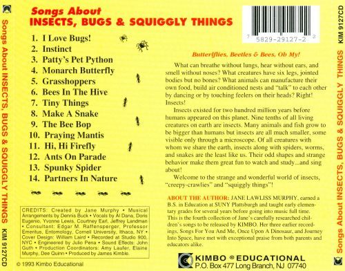Songs About Insects, Bugs & Squiggly Things