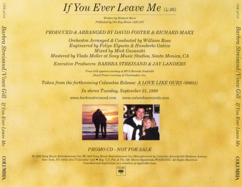 If You Ever Leave Me [US CD Single]