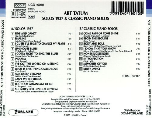 Solos 1937 and Classic Piano