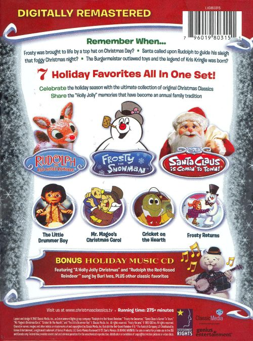 the original christmas classics classic mediagenius cddvd - Christmas Classics Dvd