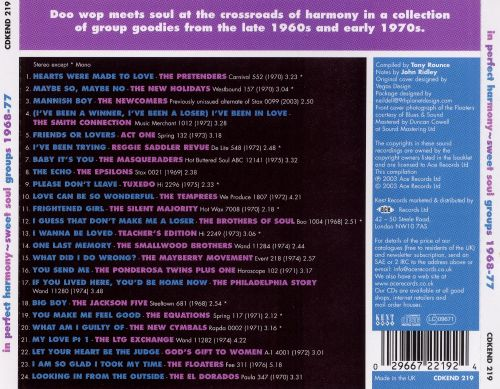 In Perfect Harmony: Sweet Soul Groups 1968-1977