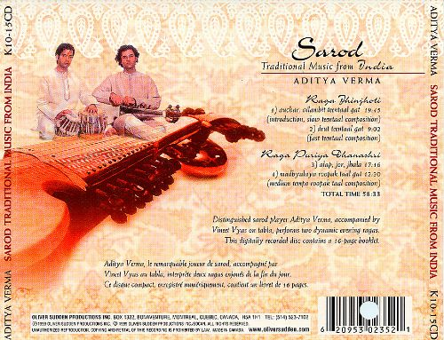 Sarod: Traditional Music From India