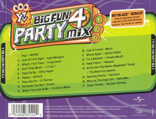 YTV Big Fun Party Mix, Vol. 4