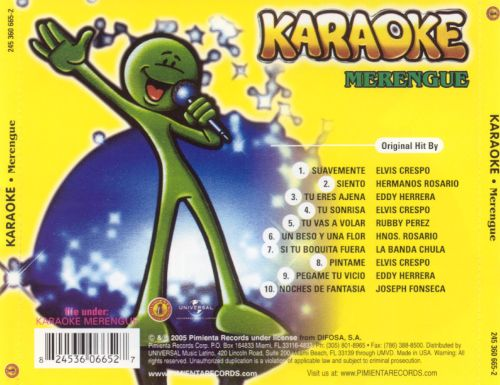 Karaoke Latino: Merengue