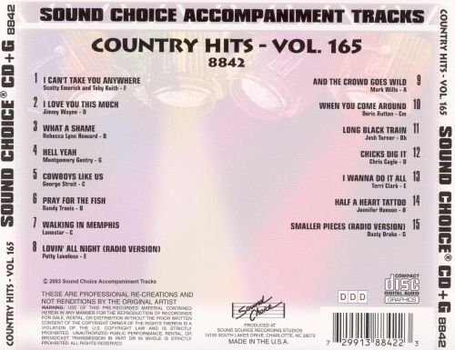 Country Hits, Vol. 165
