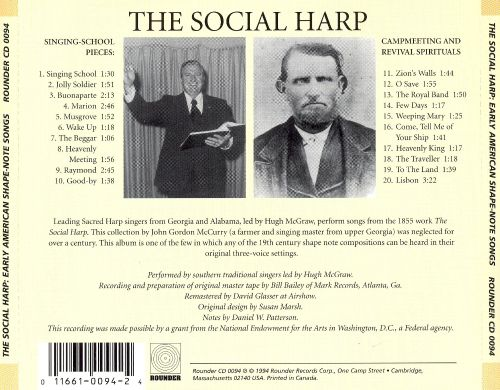 Social Harp (Early American Shape Note Songs)