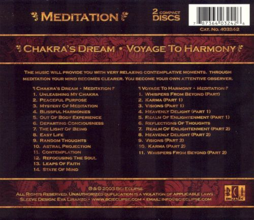 Meditation: Chakra's Dream/Voyage to Harmony